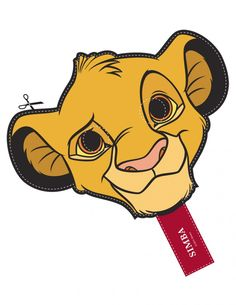 Free Disney Lion King Simba Cut Out Printable Mask #free #printable