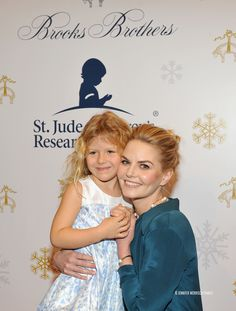 Jennifer Morrison with her niece attends Brooks Brothers holiday celebration with St. Jude Children's Research Hospital on December 3, 2016 in Beverly Hills, California.