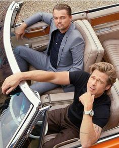 Once upon a time in Hollywood Leonardo DiCaprio and Brad Pitt Leonardo Dicaprio, Brad Pitt And Angelina Jolie, Esquire, Stylish Men, In Hollywood, Celebrity Crush, Fitspiration, Cute Boys, Decir No
