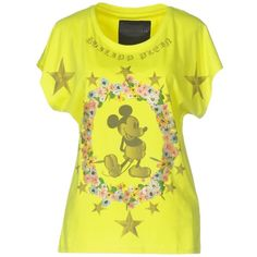 Philipp Plein Couture T-shirt ($180) ❤ liked on Polyvore featuring tops, t-shirts, yellow, rhinestone tees, yellow top, short sleeve tee, philipp plein t shirt and philipp plein