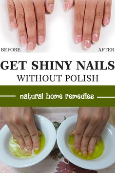 How to make your nails shiny without polish. There is a natural and healthy method Make Your Nails Shiny Without Polish. Healthy Nail Polish, Natural Nail Polish, Healthy Nails, Natural Nails, Diy Beauty, Beauty Secrets, Beauty Tips, Beauty Hacks, Shiny Nails