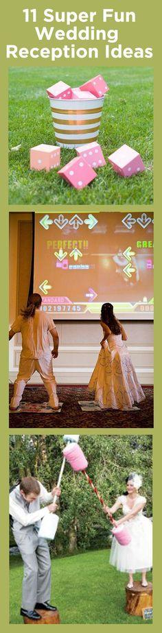 I love, love, love these fun wedding reception game ideas - such a creative list