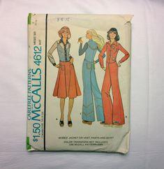 70's McCall's 4612 Pattern Misses' Jacket Vest by ElkHugsVintage