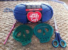 Crochet Day of the dead skull motif, easy