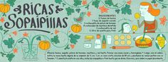 PATI AGUILERA - Receta ilustrada de Ricas Sopaipillas - Chile -  They draw and cook - Recipes illustrated by artist from around the world -   http://www.cositasricasilustradas.blogspot.com/ Aguilera, Gourmet Recipes, Vegan Recipes, Cooking Recipes, Drawings, Chilean Food, Chilean Recipes, Creme, Recipe Using