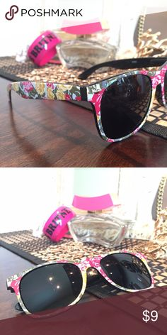 🆕💥 Flower Power Sunnies Super cute sunglasses with flower pattern. Brand new. ⛱🚤 Note: these sunnies are very dark. Perfect for vacations, boat parties and hiding from paparazzi. 💰 Bundle these for only $4 with any item in my closet.   Thank you for viewing and sharing. Be sure to check out the rest of my eclectic closet. Accessories Glasses