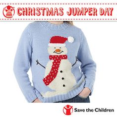 2f2435c30 Save the Children s Christmas Jumper Day - Snowman Jumper by Sue Stratford  Baby Christmas Jumper