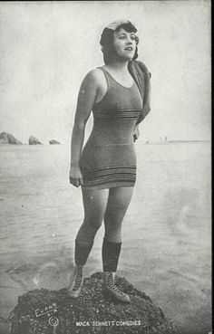 Beginning in 1915, Mack Sennett assembled a bevy of girls known as the Sennett Bathing Beauties to appear in provocative bathing costumes in comedy short subjects, in promotional material, and in promotional events like Venice Beach beauty contests.