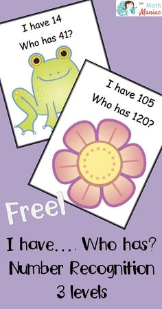 Help your primary students with number recognition!  In this free version of I have... Who has?  your students will get a chance to practice numbers to 120.  Three different versions of the game offer varying levels of difficulty.
