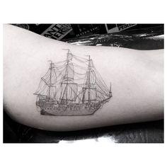 Dr. Woo tattoo ship diagram