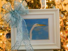Beautiful 8x10 Egret Photography Lovely Christmas by HeavenlyWings, $60.00