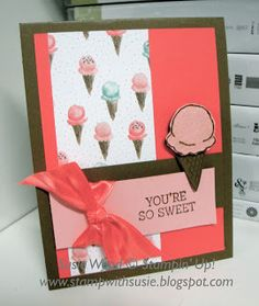 Stampin' Up!- This is a sweet card using the Sale-a-bration set- 'Honeycomb Happiness'!
