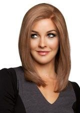 Fine #16 Silky Straight 16Inch Remy Human Hair Lace Front Wig