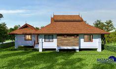 แบบบ้านชั้นเดียวไทยประยุกต์ หน้ากว้าง ยกพื้น 3 ห้องนอน 3 ห้องน้ำ พื้นที่ใช้สอย 171 ตร.ม.   ฟาร์มกี้.com Cabin, House Styles, Home Decor, Decoration Home, Room Decor, Cabins, Cottage, Home Interior Design, Wooden Houses