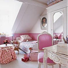 Purple and pink for a feminine bedroom - Trendy Home Decorations Pink Bedrooms, Girls Bedroom, Feminine Bedroom, Parisian Bedroom, White Bedroom, Bedroom Inspo, Bedroom Ideas, Pink Houses, Pink Room