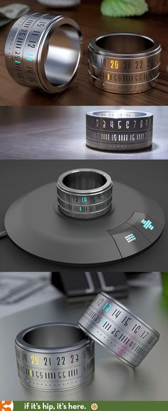 The Ring Clock becomes a reality! Details at the link. // Love this. #mensaccessoriesring