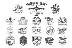 Airplane Club Vector Label by TopVectors on @creativemarket
