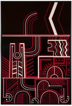 "Part 2 of 3 piece ""untitled"" - para matchitt Maori Art, Visionary Art, Mixed Media Artists, Simple Shapes, New Art, Printmaking, New Zealand, Print Design, Modernism"