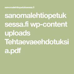 sanomalehtiopetuksessa.fi wp-content uploads Tehtaevaeehdotuksia.pdf Pdf, Content, Math Equations