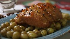 Marmalade and mustard gammon with parsley sauce recipe - BBC Food Salsa Gravy, Gammon Recipes, Tv Chefs, Ham Glaze, Marmalade, Food Photo, Family Meals, Bacon, Tasty