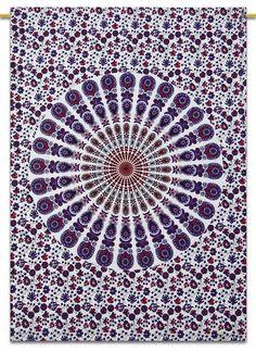 Indian Wall Hanging Hippie Mandala Tapestry Dorm Decor Bohemian Bedspread Throw #Handmade #Traditional #BedspreadBedsheetWallHanging