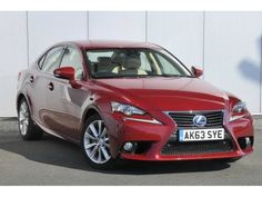 Used 2013 (63 reg) Mesa Red Lexus IS 300h Luxury 4dr CVT Auto [Navigation/Leather] for sale on RAC Cars