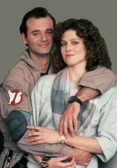 Bill Murray and Sigourney Weaver