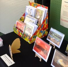 How to make a greeting card display stand by Nkolika Anyabolu  - craft show idea for stationery