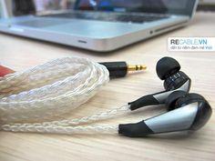 Tai nghe CX-870 của Sennheiser đã đươc recable 6 sợi dây bạc