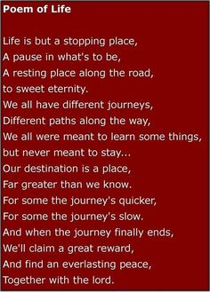 Image result for poems about death Uplifting Life