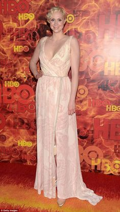 Simply beautiful: Gwendoline Christie transform into a goddess at the 2015 Emmy Awards on Sunday