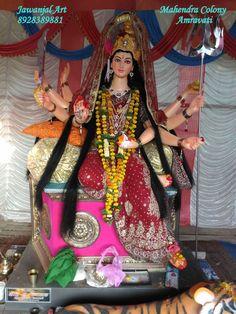Durga Mata seating on Sihasan