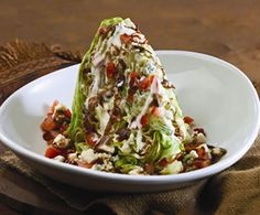 Saltgrass Steakhouse Iceberg Wedge Salad...my favorite!