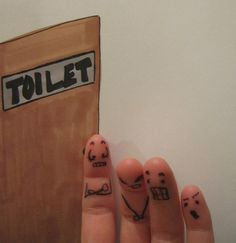 Bathroom Line finger people Finger Fun, Finger Heart, Finger Plays, Up Tattoos, Finger Tattoos, The Rock Photos, Funny Fingers, How To Draw Fingers, Beginner Tattoos