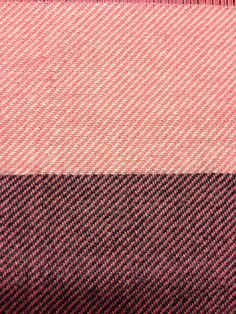 Wool, pink warp grey and white weft