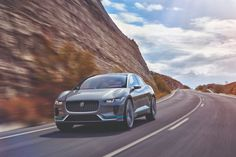 Jaguar has revealed its first ever all-electric car in Los Angeles, with the event being live streamed to the UK via HTC Vive VR headsets. Jaguar says Carros Jaguar, All Electric Cars, Electric Vehicle, Electric Crossover, Car Tags, Jaguar Daimler, Tesla Model X, Jaguar F Type, Classy Cars
