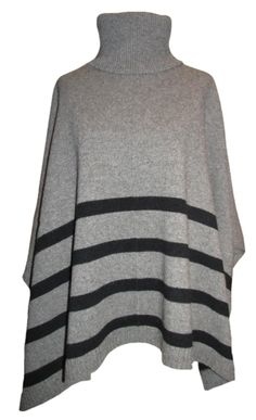 Eileen Fisher Supersoft Yak & Merino Stripe Turtleneck Poncho This incredible poncho embodies what we LOVE about fall! A luxuriously soft knit in a very sassy silhouette. This beautiful, positively YUMMY poncho is stunning with jeans and fall boots. As cool and cozy as it gets! J'adore!!! http://www.melange4women.com/eifisuyakmes.html