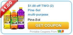 $1.00 off TWO (2) Pine-Sol multi-purpose cleaners