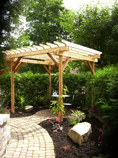 Pergola - thinking about building one for the small side of the yard next to the covered patio.