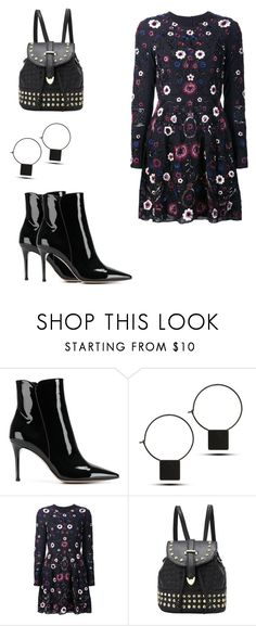 """""""Black dress set"""" by shreyaroy994 ❤ liked on Polyvore featuring Gianvito Rossi and Needle & Thread"""