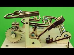 Marble Machine, Wood Turning Projects, Toy Craft, Wooden Puzzles, Science Fair, Pinball, Wood Design, Laser Engraving, Metal Art