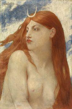 Jules-Joseph Lefebvre 1836-1911 Diana 1902' 10.75 x 7 inches