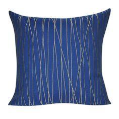 "21"" x 21"" Dark Blue Branch Decorative Pillow P0174-2121P"
