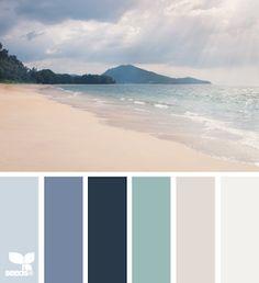 Design seeds - coastal and beach decor: Coastal Decor Color Palette - Mental . - Design seeds – Coastal and beach decor: Coastal Decor Color Palette – Mental Vacation – - Coastal Colors, Coastal Decor, Coastal Color Palettes, Ocean Colors, Coastal Paint, Boho Decor, Colour Pallette, Colour Schemes, Paint Schemes