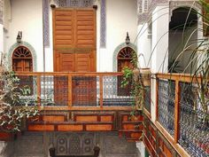 A Woman's guide to Morocco - Riad Laaroussa in Fez. Riads are traditional Moroccan houses with inner courtyards and even fountains, many of which are being renovated and converted into hotels Morocco Travel, Marrakesh, Places To See, Travel Tips, Cabin, Adventure, House Styles, World, Courtyards