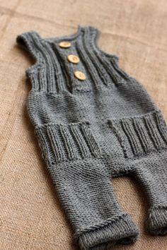 Merino wool Grey Knit Romper / Newborn PHOTO PROP / by GAMMAkids