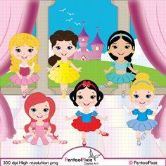 Little Princess ballerina ballerina clipart ballet by PentoolPixie