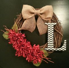 Grapevine Door Wreath Fall Wreath with a by TheLeoAndTheTaurus