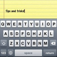 iphone 4 keyboard typing tips tricks shortcuts how to