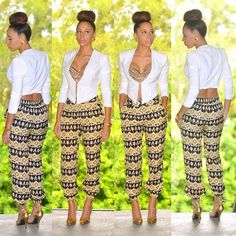I've wanted a studded Bra for so long! This outfit is cute! African Attire, African Wear, African Women, African Dress, African Outfits, African Clothes, African Style, African Inspired Fashion, African Print Fashion
